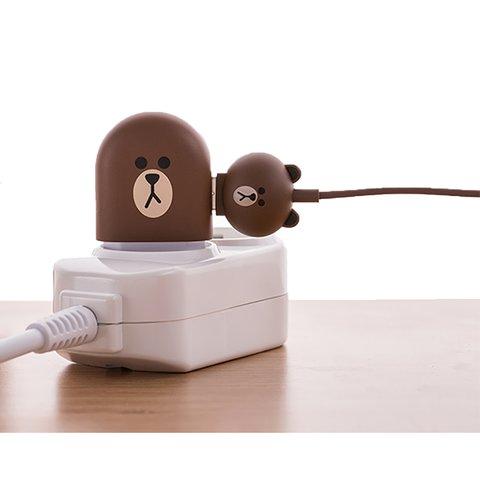 Micro-USB 5-контактный кабель для подключения смартфона (Line Friends – Brown) Превью 2