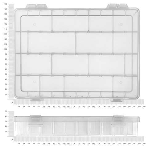 Касетниця для компонентів Pro'sKit 203-132H  (252x182x40.5 мм)